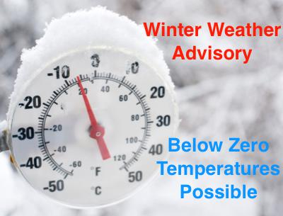 Weather Advisory - Frigid Temperatures