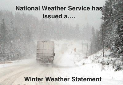 Winter Weather Statement Issued