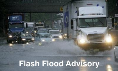 Flash Flood Advisory Issued Until 7:30 p.m.