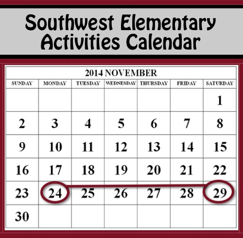 Calendar Ideas For Elementary : Southwest elementary calendar and activities