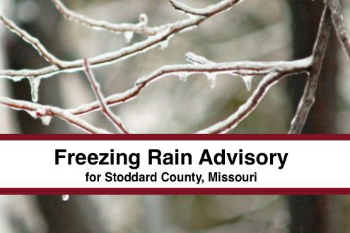 Freezing Rain Advisory Issued for Stoddard County