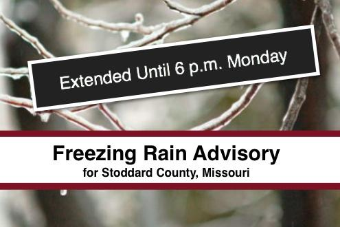 Freezing Rain Advisory Extended Until 6 p.m.