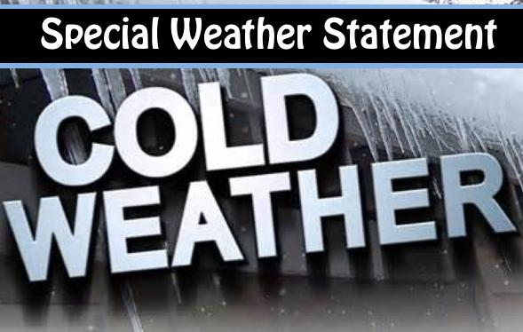 Special Weather Statement - Gusty North Winds, Cold Temps