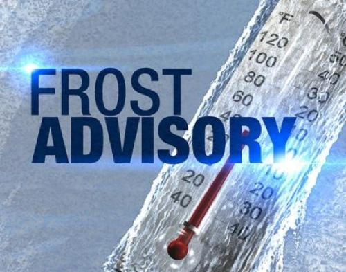 Frost Advisory for Stoddard County