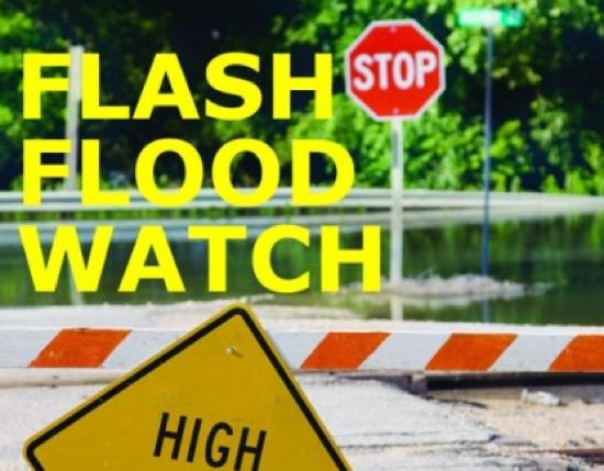 Flash Flood Watch Extended Through Saturday