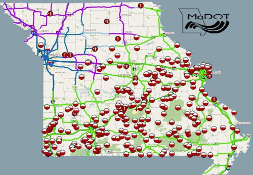 Missouri Road Closures Due to Flooding