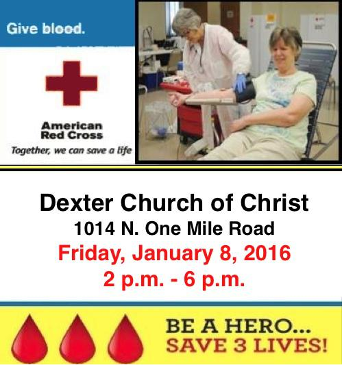 Blood Drive Dexter Church of Christ