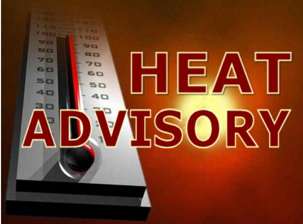 Heat Advisory Issued - Heat Index Could Reach 108