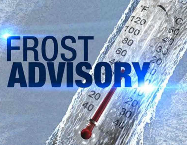 Frost Advisory Issued for Stoddard County