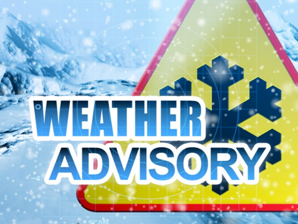 Winter Weather Advisory Issued for Saturday Evening