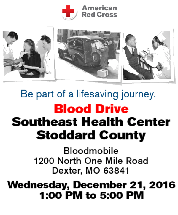SoutheastHEALTH Hosting Blood Drive on Wednesday - Urgent Need for Blood