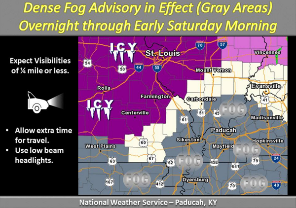 Dense Fog Advisory for Stoddard County
