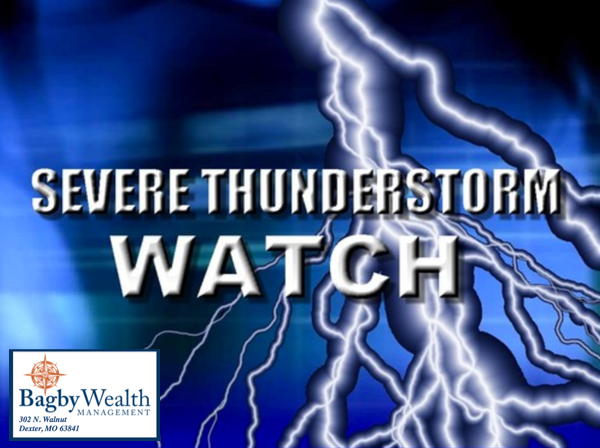 Severe Thunderstorm Watch in Effect Until 5 a.m.