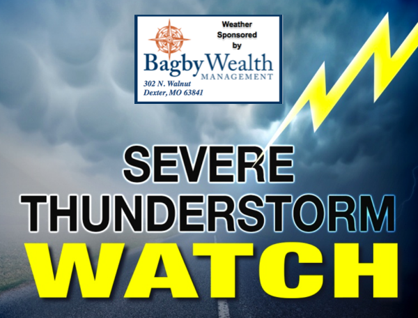 Severe Thunderstorm Watch Issued for Stoddard County Until Midnight Tonight