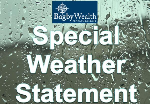Special Weather Statement Extended to 7:00 p.m. Wednesday