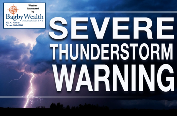 Severe Thunderstorm Warning for Northeastern Stoddard County