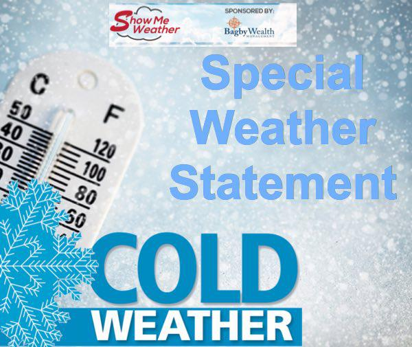 Special Weather Statement - Temps to Drop into Single Digits Tonight