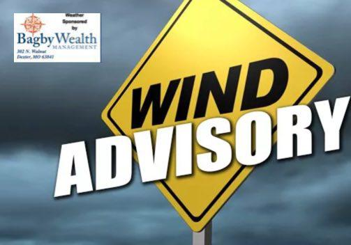 Wind Advisory for Stoddard County