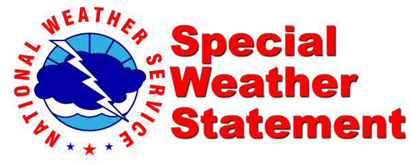 Special Weather Statement for TODAY Until 4 p.m.