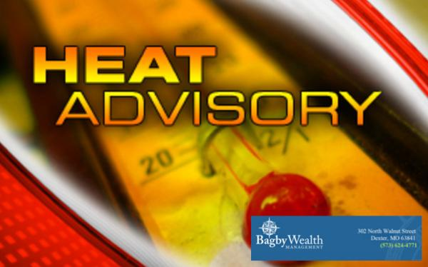 Heat Advisory Issued for Stoddard County on Friday, July 20, 2018