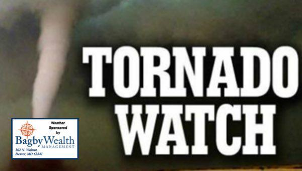 Tornado Watch In Effect Until 2 a.m. for Stoddard County