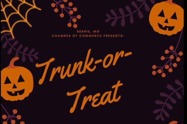 Bernie Chamber of Commerce Halloween Trunk or Treat!