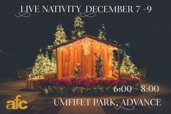 Advance First Church Invites You to Their Live Nativity