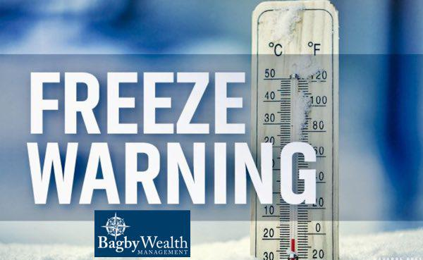 FREEZE WARNING Issued for Sunday Night into Monday Morning