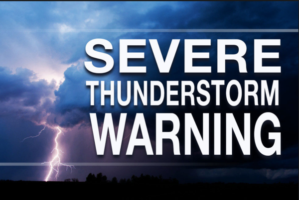 Severe Thunderstorm Warning Issued until 5:15 p.m.
