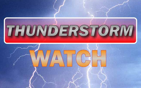 Severe Thunderstorm Watch Issued Until 8 p.m.