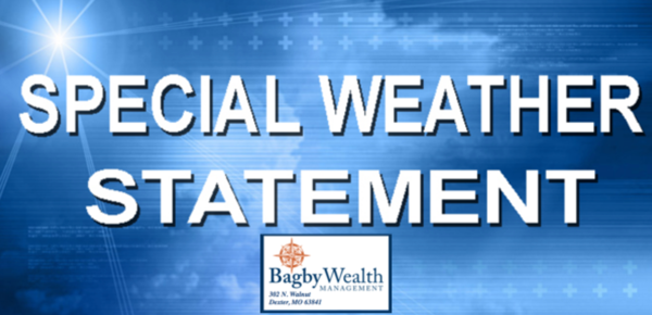 Special Weather Statement for Stoddard County until 4 p.m. Today