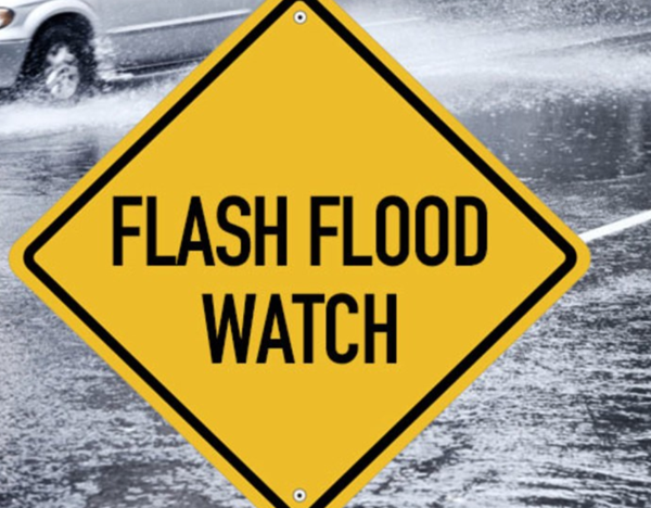 Flash Flood Watch Issued for Saturday, October 26, 2019