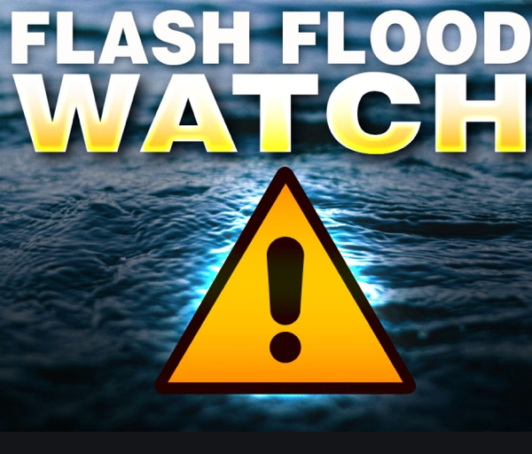 Flash Flood Watch Issued Through Wednesday Morning