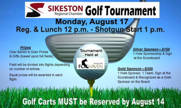 Sikeston Regional Chamber of Commerce Golf Tournament