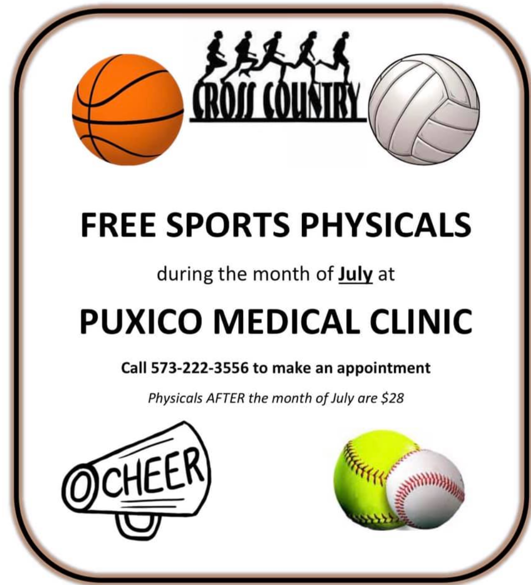 FREE Sports Physicals Available by Appointment