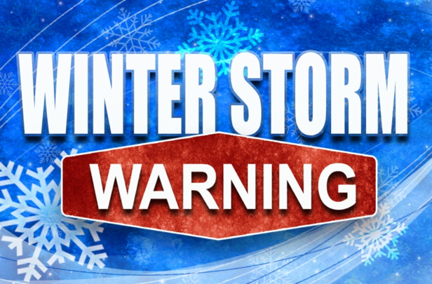 National Weather Service has Issued a Winter Storm Warning
