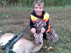 Kincy Gets His First Deer Sunday
